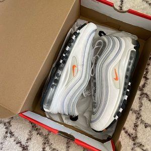 Nike Air Max 97 - White/Orange - Sz 7.5